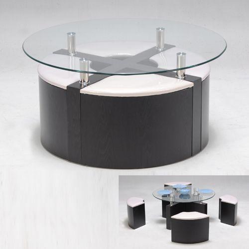 Alinea table basse avec pouf