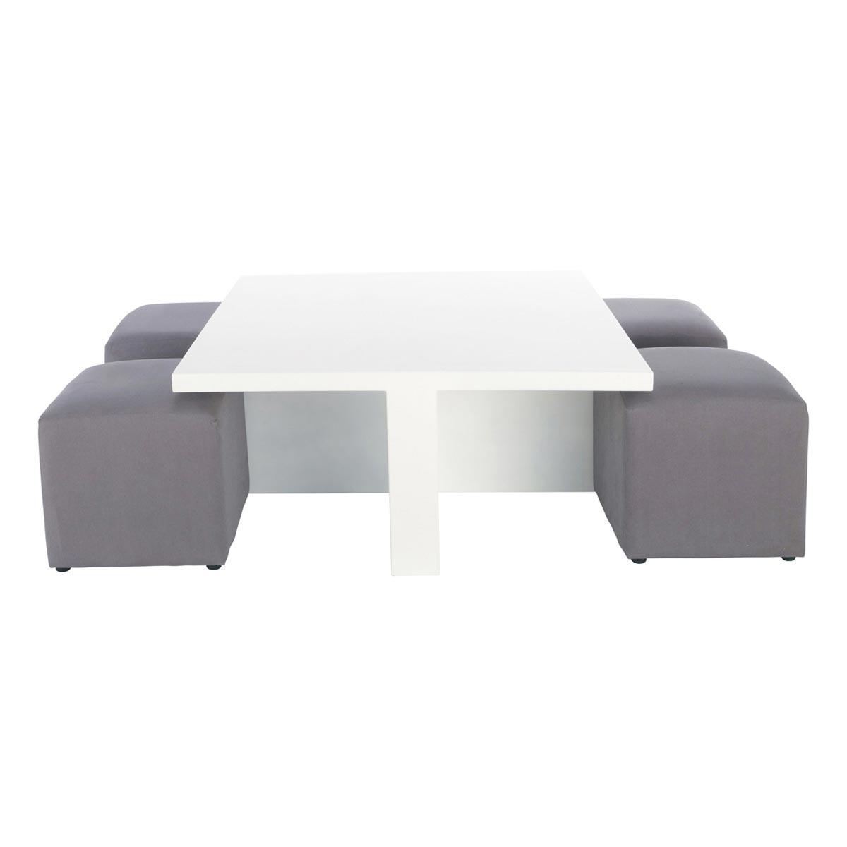 Table basse avec pouf solde
