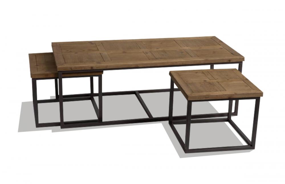 Table basse gigogne aluminium