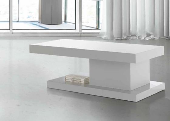 Table basse avec tiroir et poufs helia décor wengé