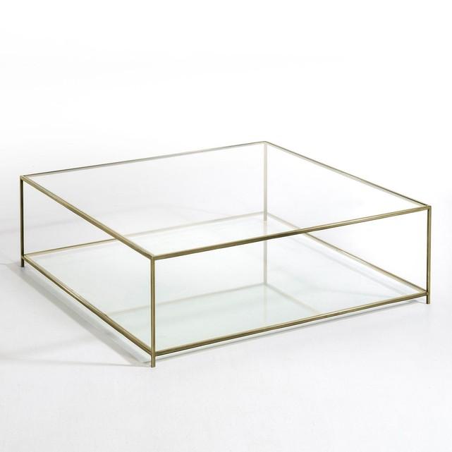 Table basse en verre carre