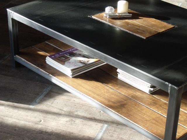 Table basse industrielle belgique