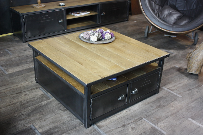 Realiser table basse industrielle