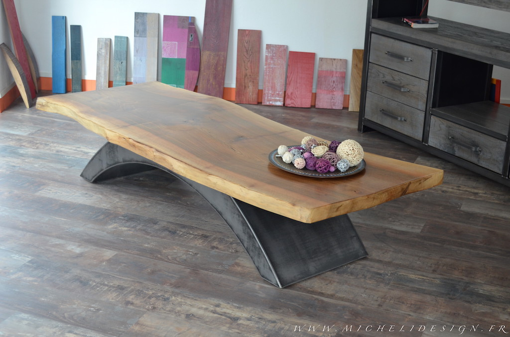 Table basse style industriel design