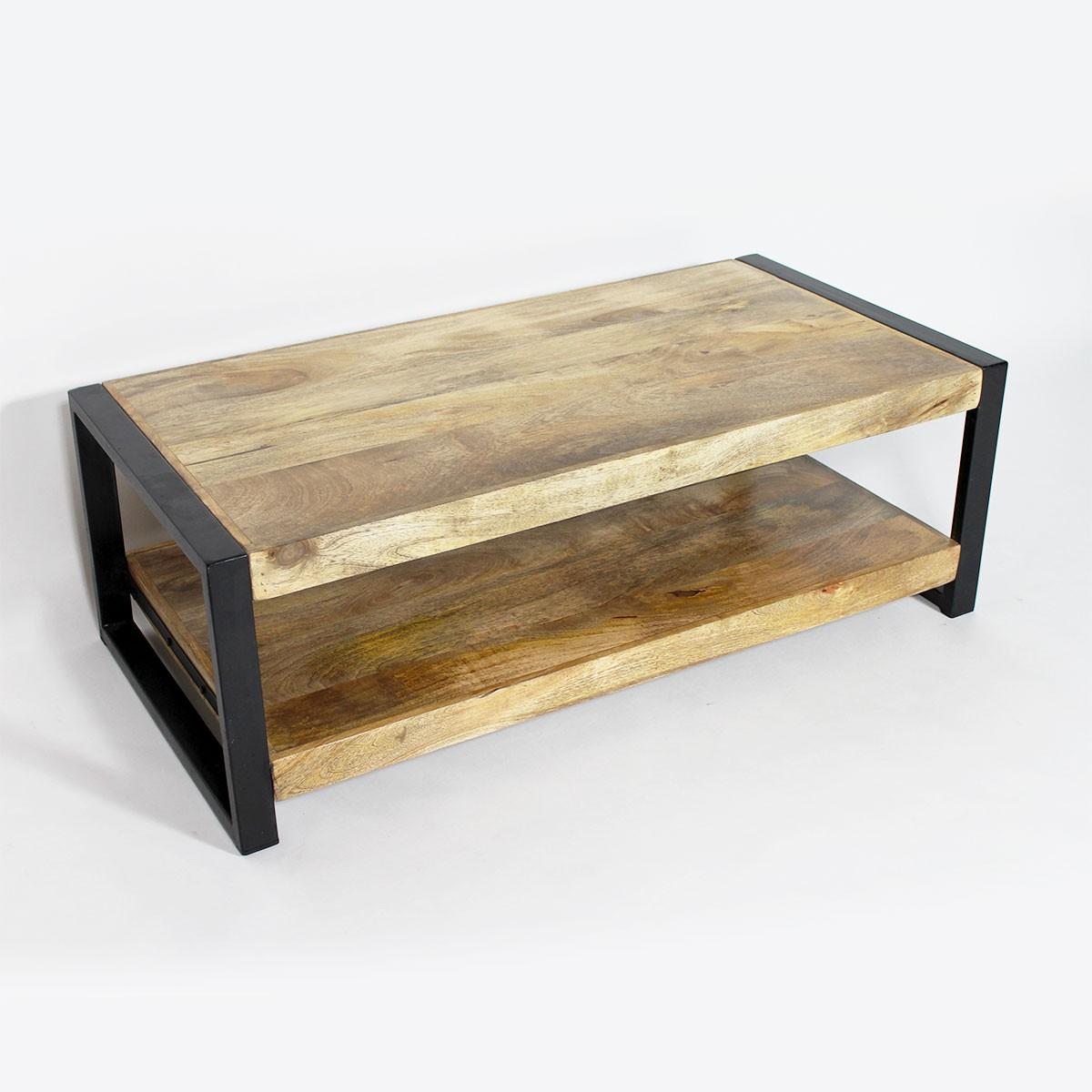 Table basse industrielle promo