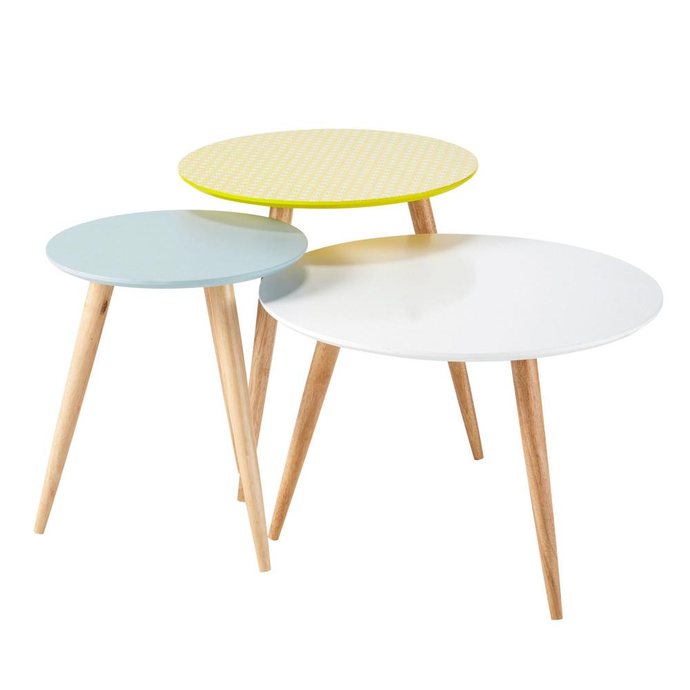 Table basse gigogne ovale