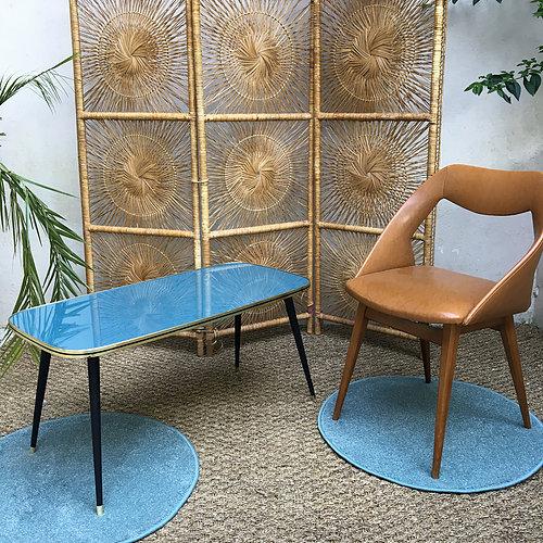 Table basse vintage bleu