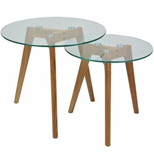 Table basse gigogne en verre design