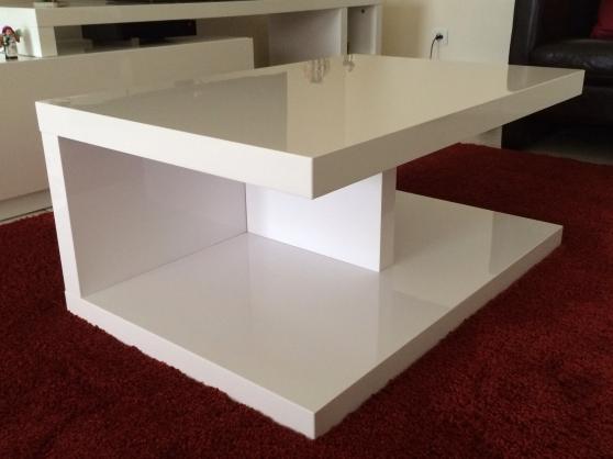 Table basse alinea laque blanc