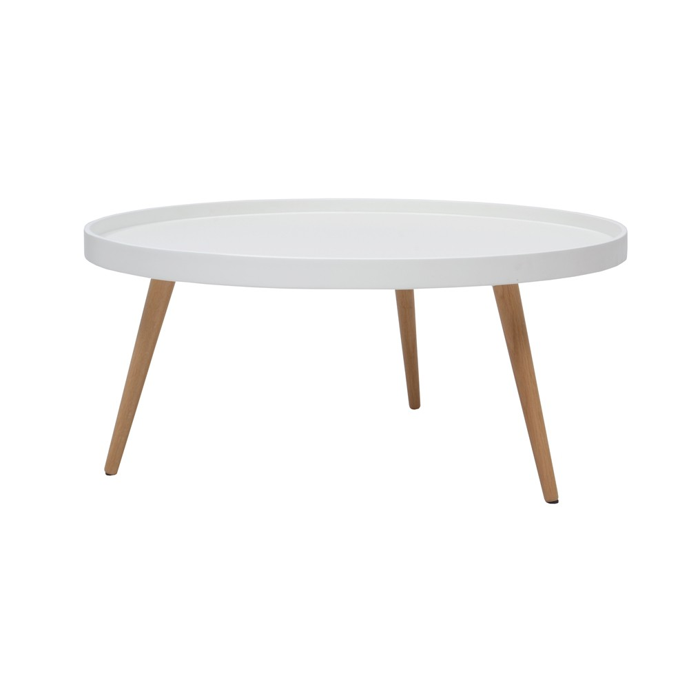 Table Scandinave Ronde. Fabulous Table Basse Ronde Blanche Pristina ...