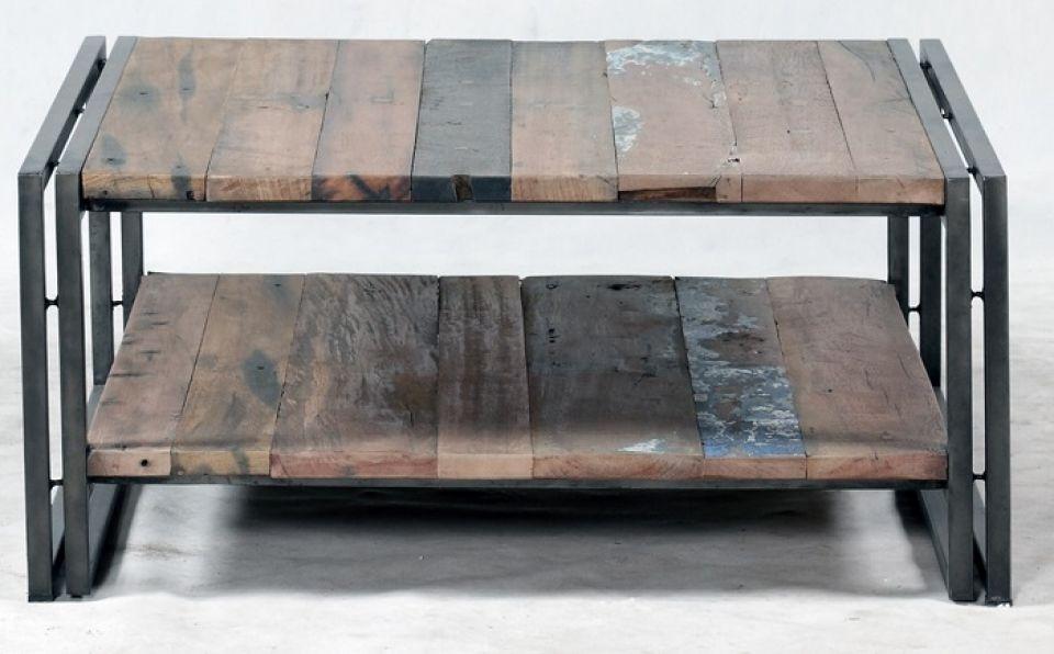 Table basse industrielle coffre