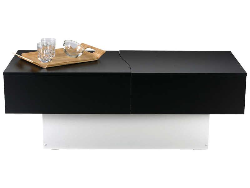 Table basse avec pouf chez conforama