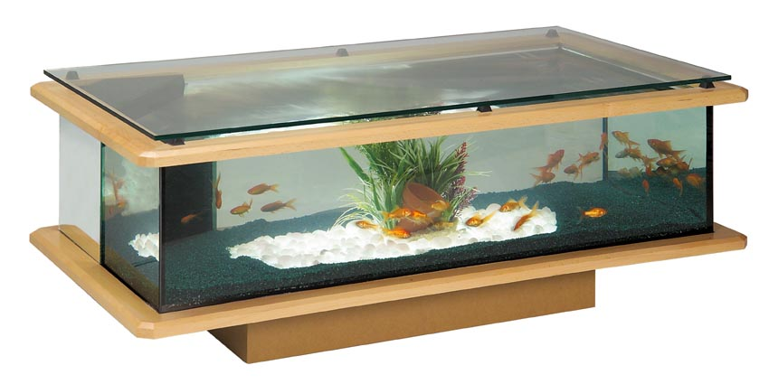 table basse en verre avec aquarium maison et meuble de. Black Bedroom Furniture Sets. Home Design Ideas