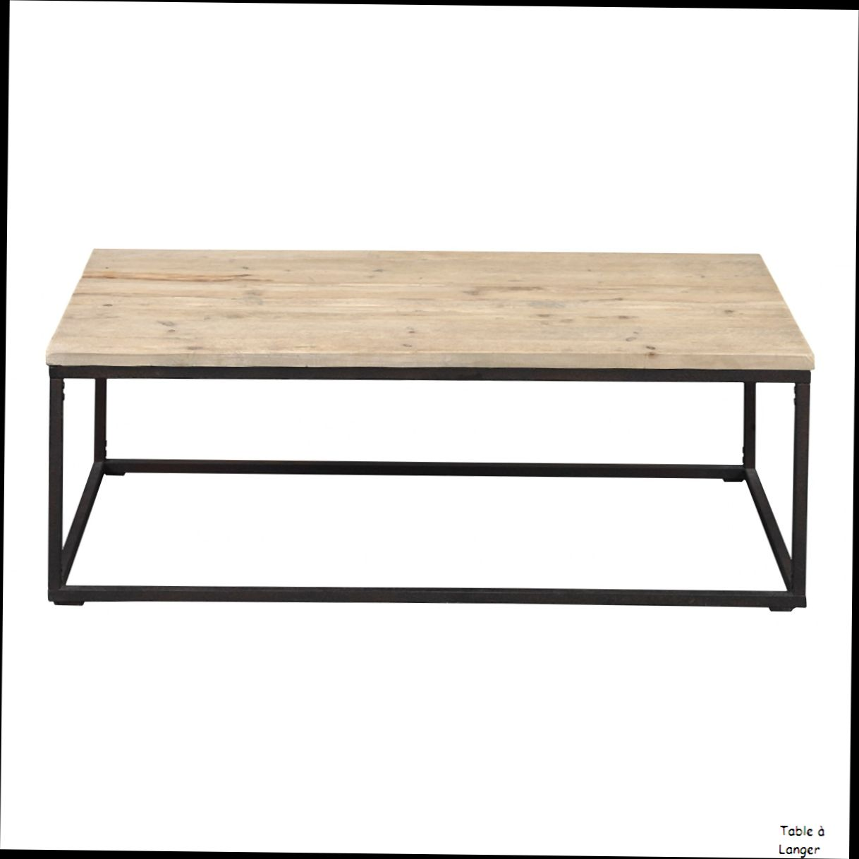 Table basse industrielle rectangulaire