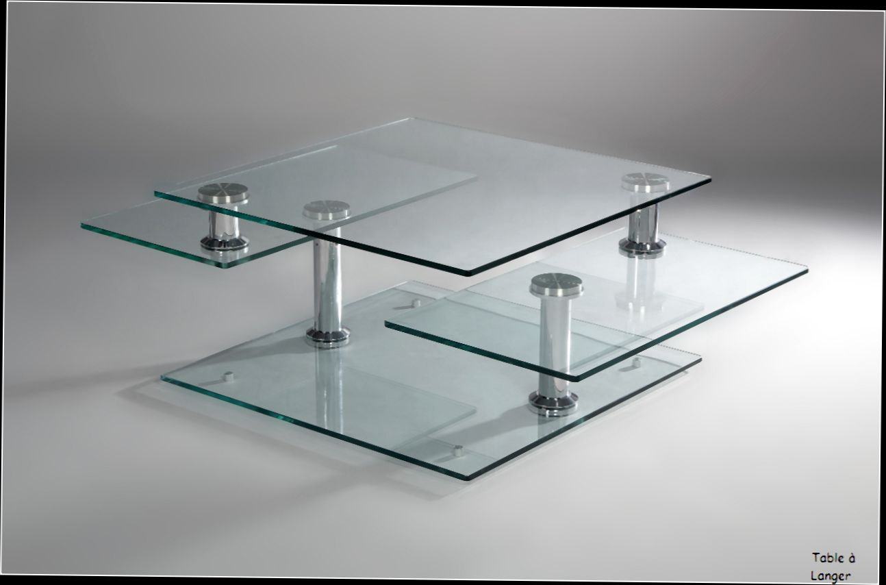 Table basse en verre moulé
