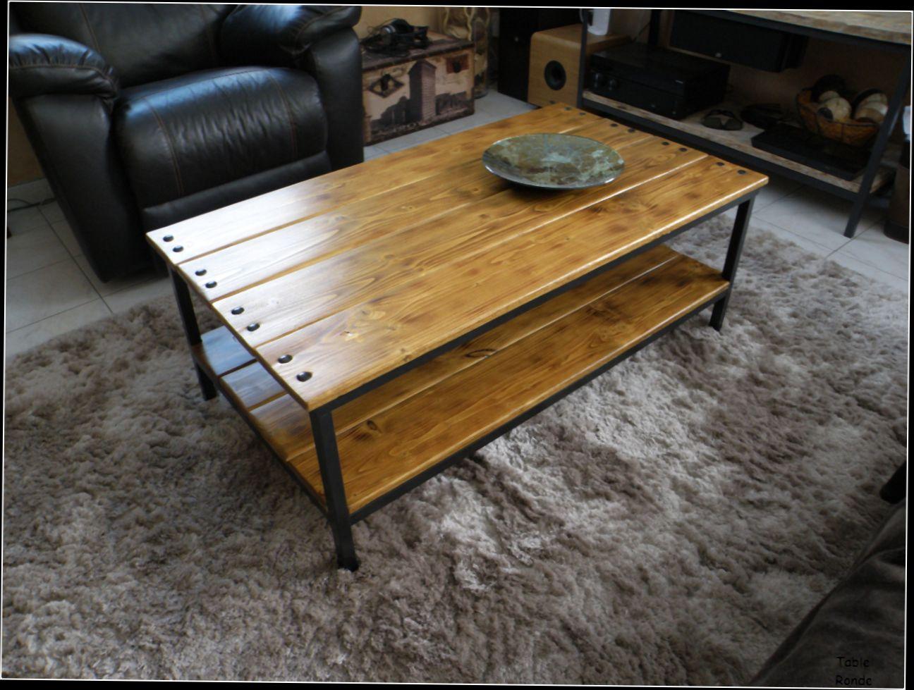 Table basse industrielle en solde