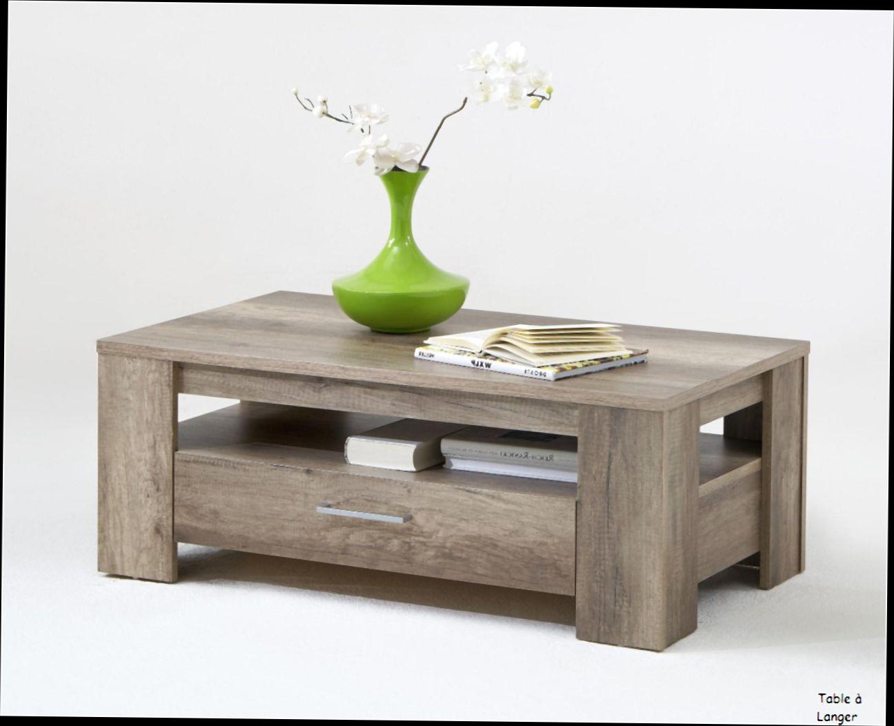 Table basse avec tiroir de rangement