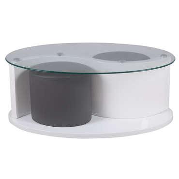 Table basse en verre ovale conforama