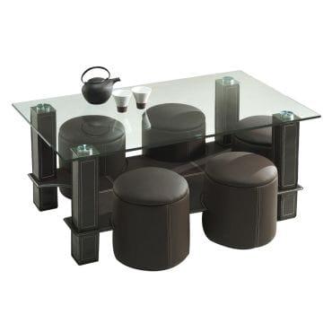 Table basse en s avec pouf conforama