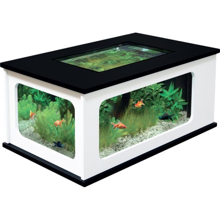 Photo aquarium table basse