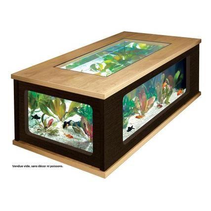 Table basse aquarium prix discount