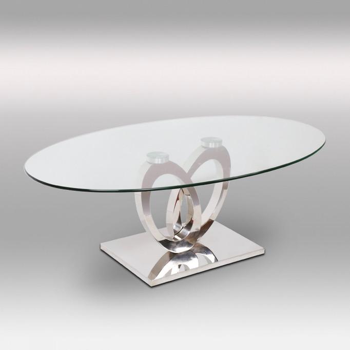 Table basse en verre ovale but