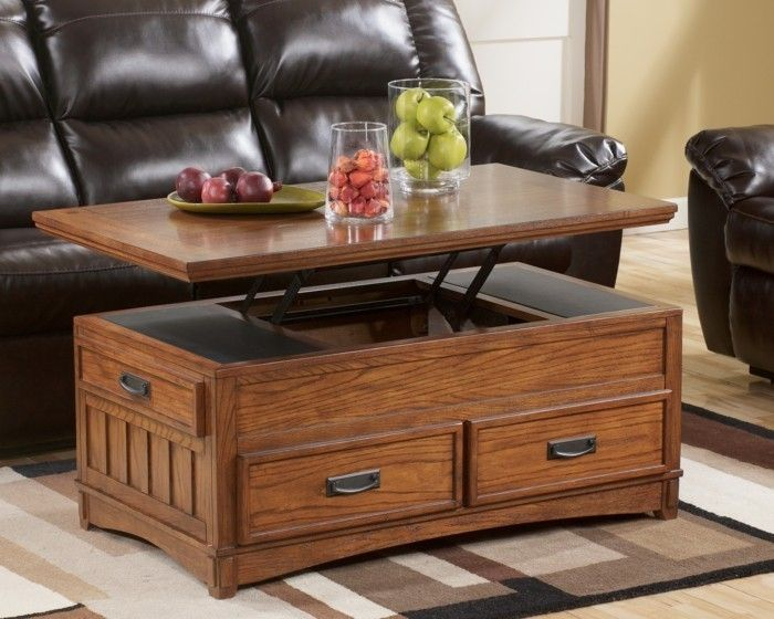 Table basse avec rangement tiroir