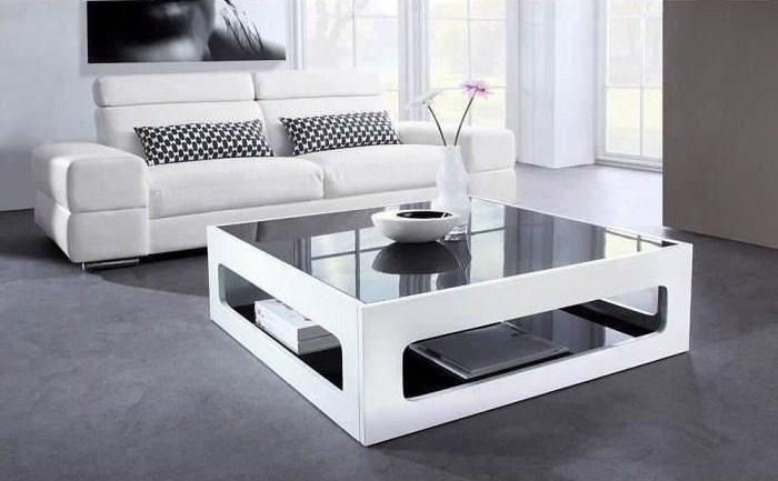 Table basse carrée blanc pas cher