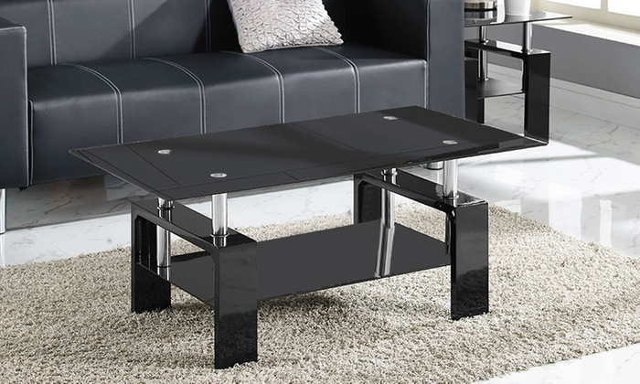 Table basse verre groupon