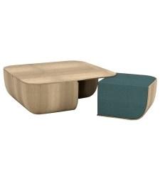 Table basse avec poufs encastrables