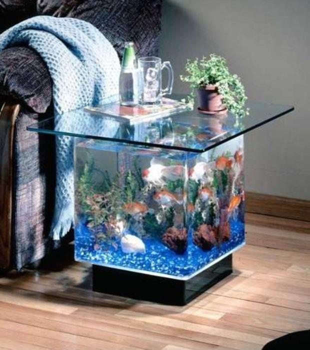Table basse aquarium zen
