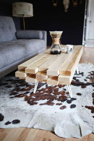 Tuto table basse vintage