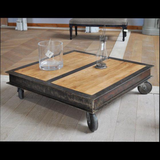Construire une table basse industrielle