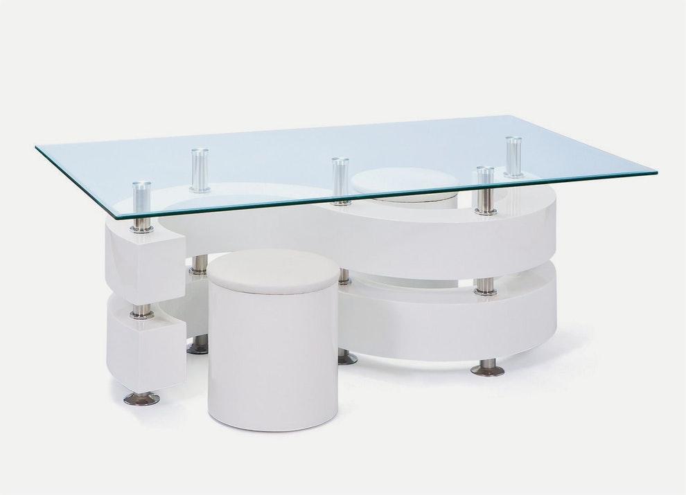 Table basse avec poufs but
