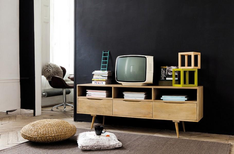 Meuble tv et table basse vintage