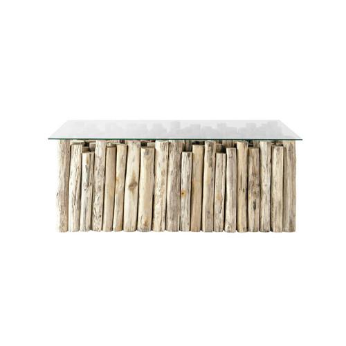 Table basse laqué gris carrée isabelle id'clik