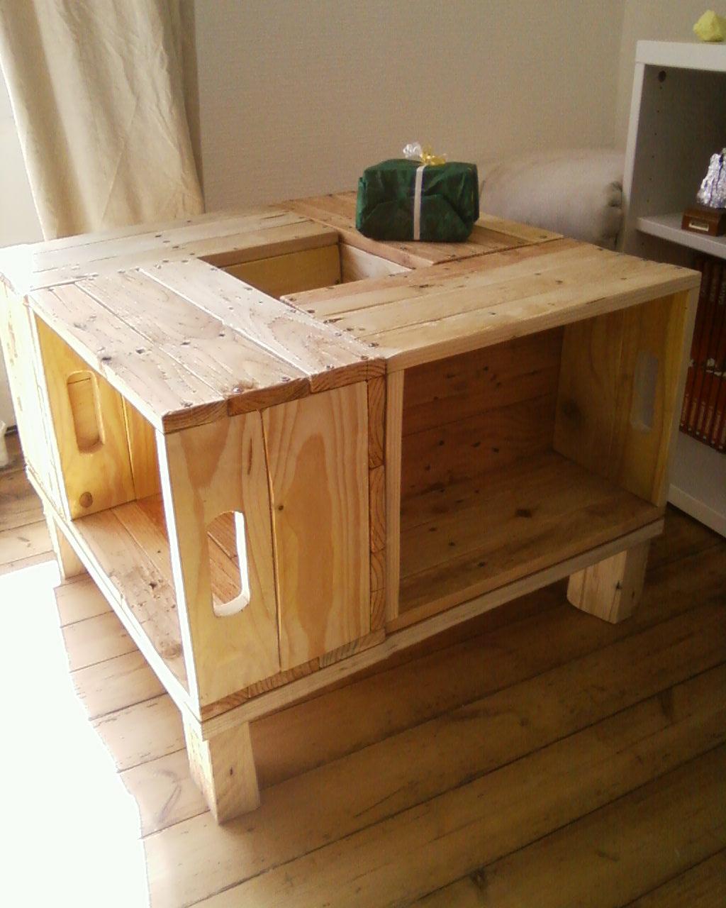 Fabriquer table basse avec rangement