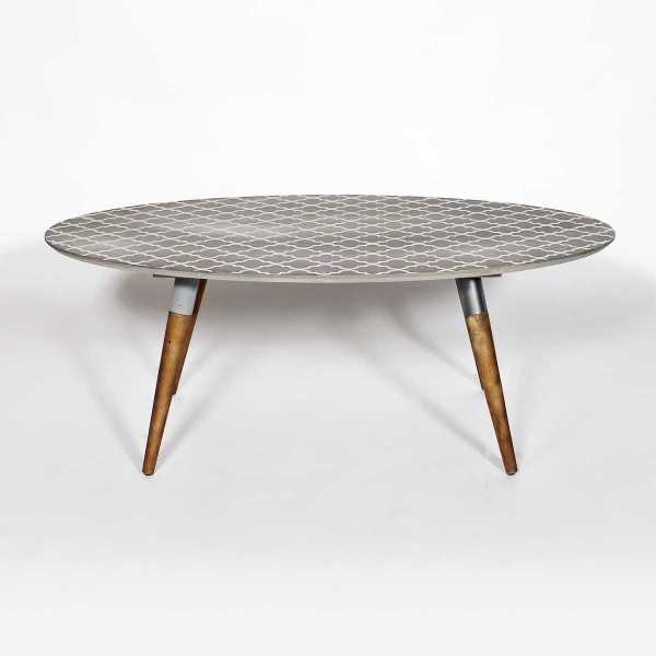Table basse vintage verre