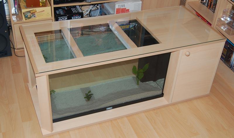 Comment realiser une table basse aquarium