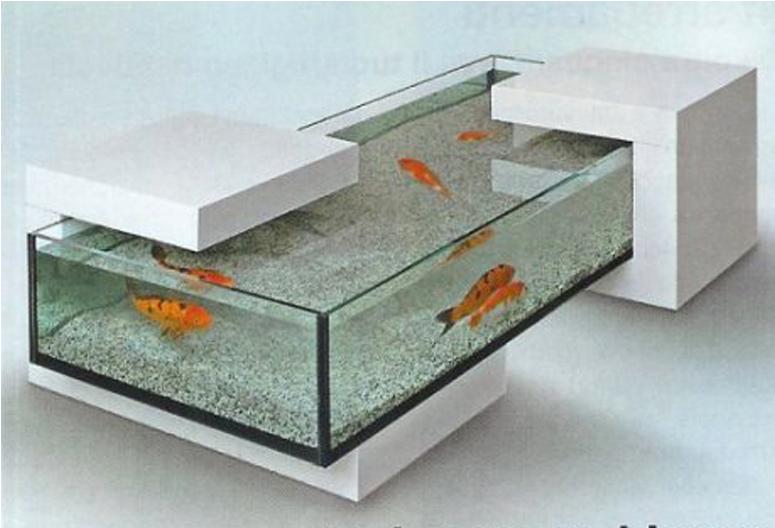 Faire une table basse avec un aquarium