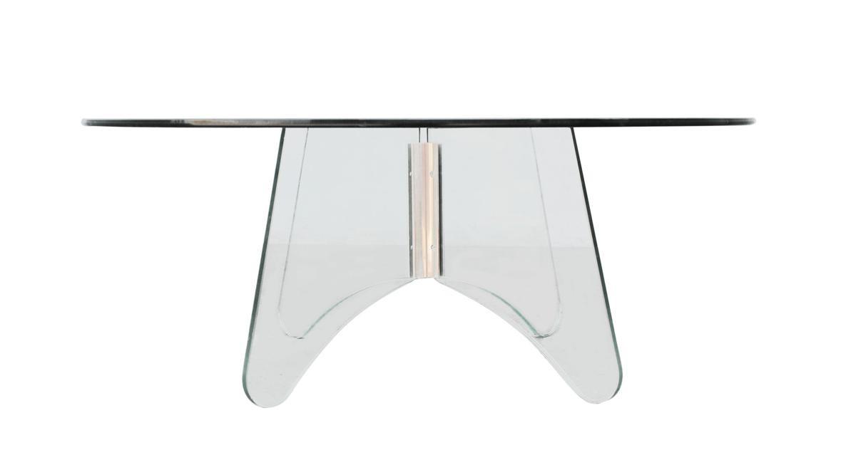 Table basse vintage plexi