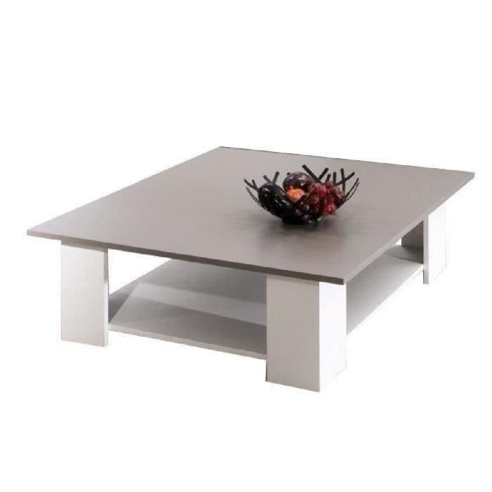 Table basse carrée cdiscount