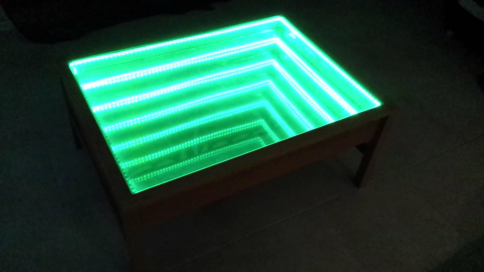 Table basse verre led