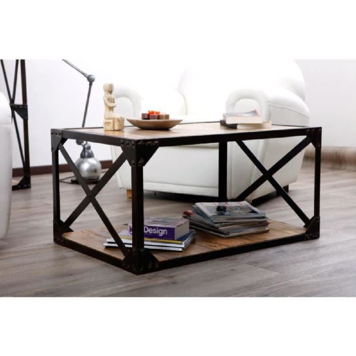Table basse industrielle cdiscount