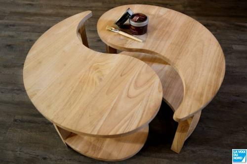 Table basse ying yang pas cher