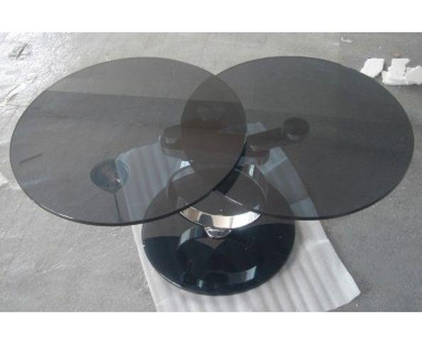 Table basse en verre et fer