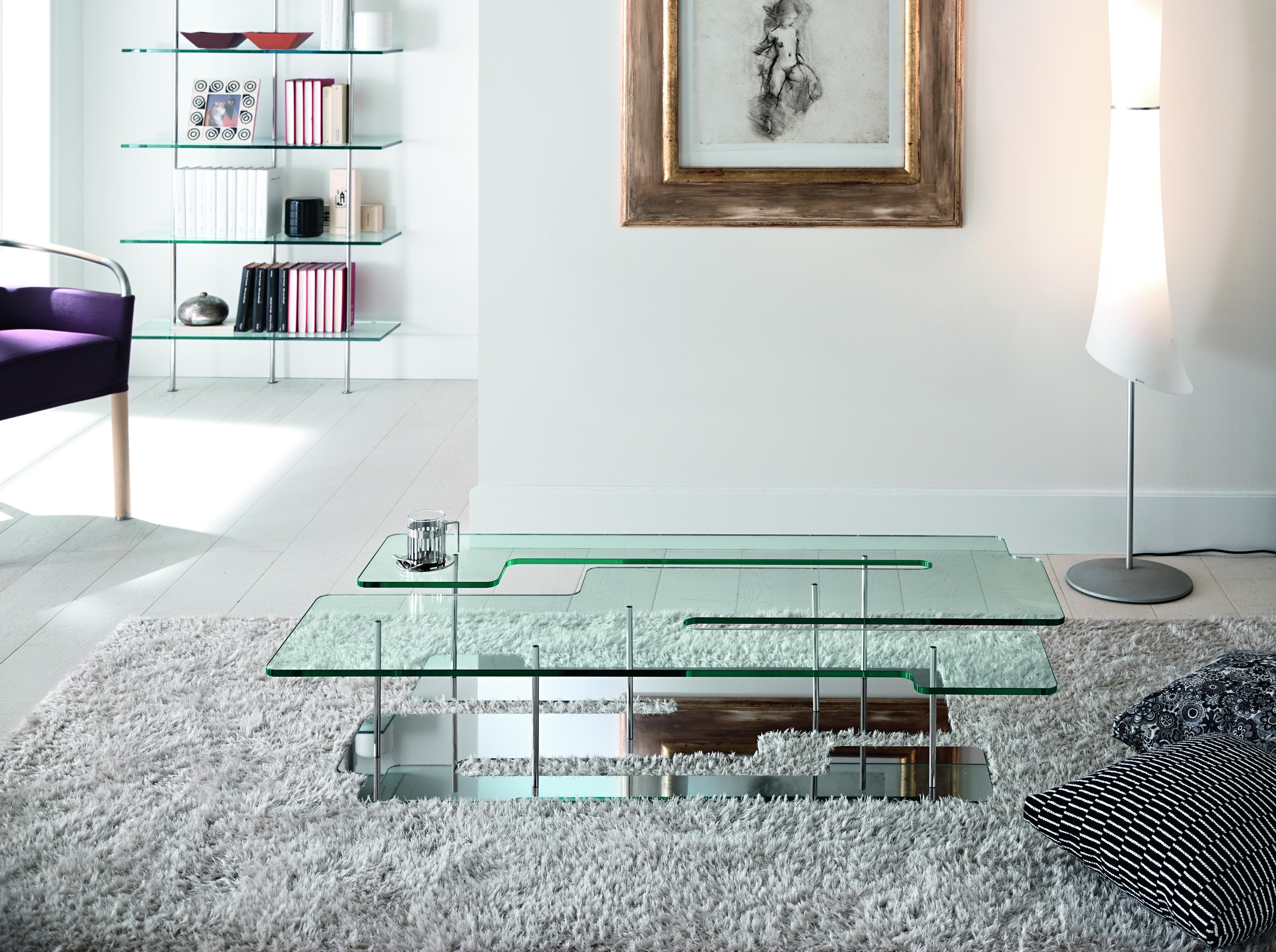 Table basse en verre salon