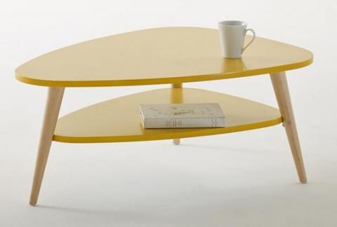 La redoute table basse vintage double plateau