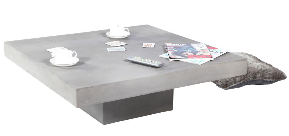 Table basse carrée design