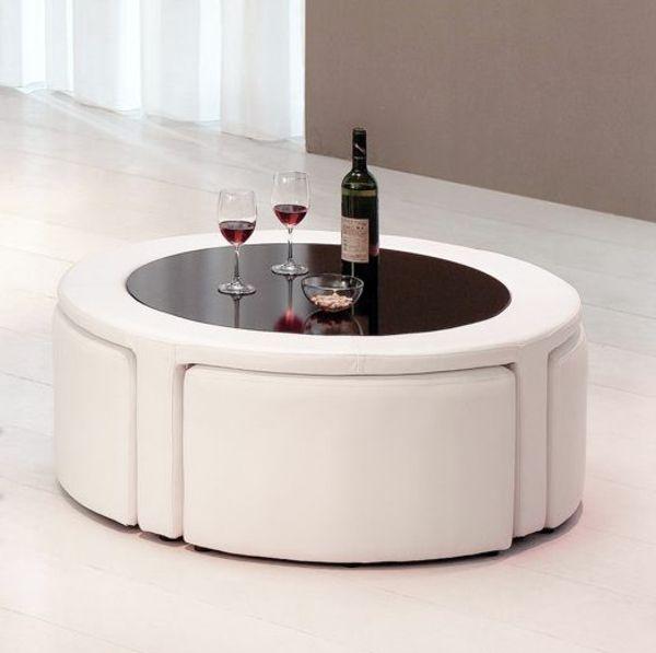 Table basse avec pouf but
